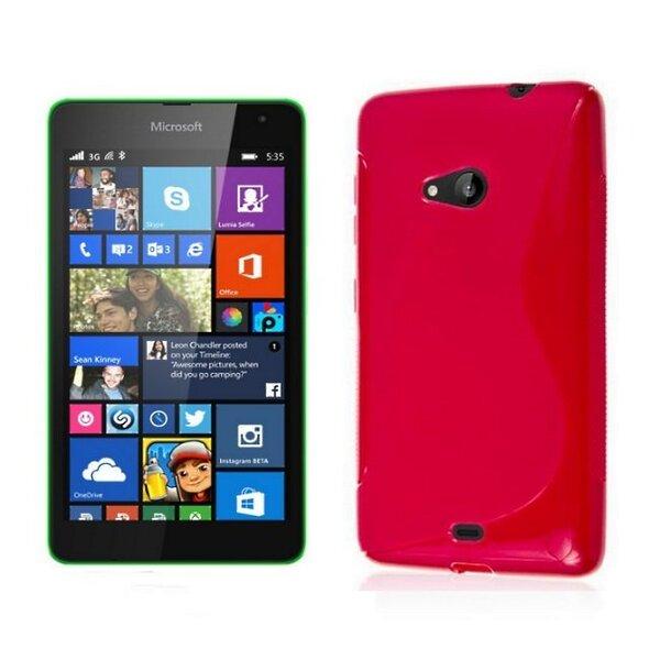 Telone gumijots telefona apvalks Microsoft 535 Lumia rozā cena un informācija | Maciņi, somiņas | 220.lv