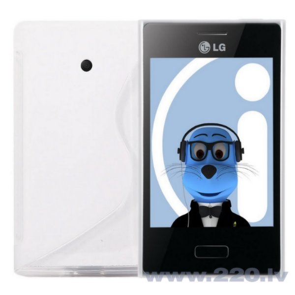 Telone Back Case S-Case gumijots telefona apvalks LG Swift L3 E400 Balts cena un informācija | Maciņi, somiņas | 220.lv