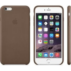 Aizmugures apavlks priekš Apple iPhone 6 Plus Leather Olive Brown