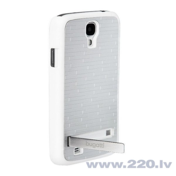 Aizsargvāciņš Bugatti ar statīvu iztrādāts priekš Samsung Galaxy S4 (i9500), balts cena un informācija | Maciņi, somiņas | 220.lv