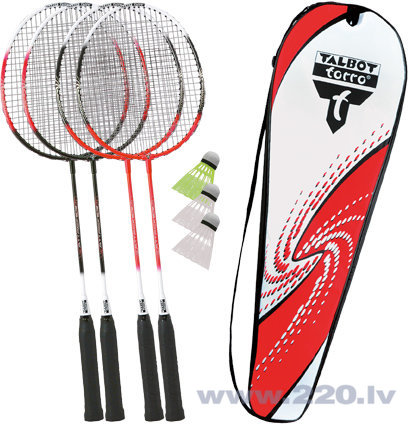 Badmintona komplekts Talbot Torro 4 Attacker cena un informācija | Badmintons | 220.lv