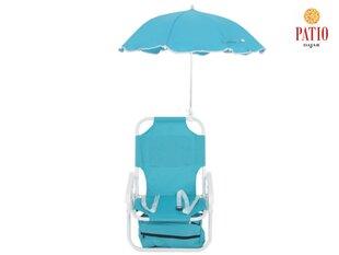 Bērnu kempinga krēsls ar lietussargu cena un informācija | Bērnu dārza mēbeles | 220.lv