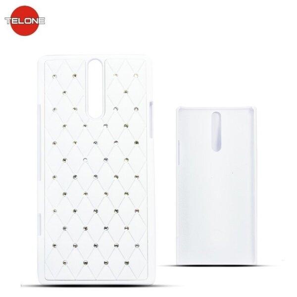 Telone Diamond Super Plāns telefona apvalks ar akmeņiem Nokia 720 Lumia Balts cena un informācija | Maciņi, somiņas | 220.lv