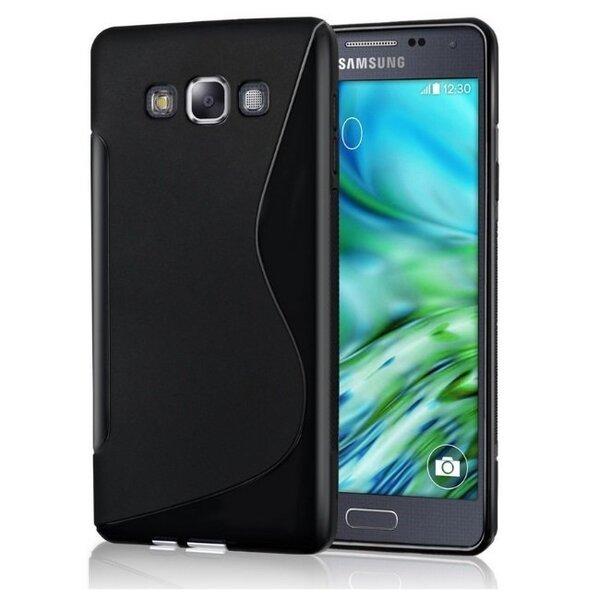 Telone gumijots telefona apvalks Samsung Galaxy A7 (A700) melns cena un informācija | Maciņi, somiņas | 220.lv