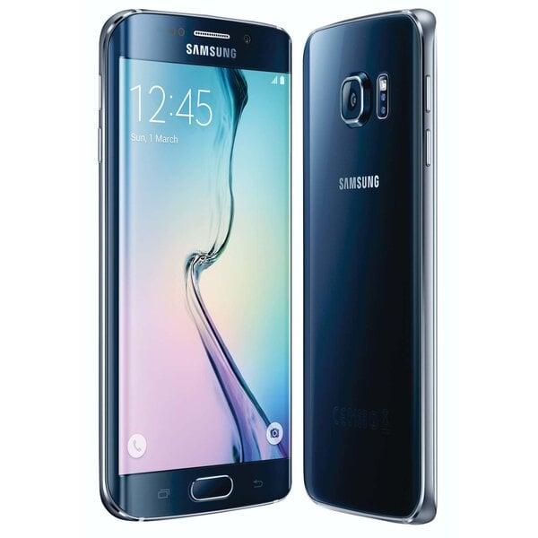 Samsung G925 Galaxy S6 Edge 32GB Black Sapphire (Melns) cena un informācija | Mobilie telefoni | 220.lv