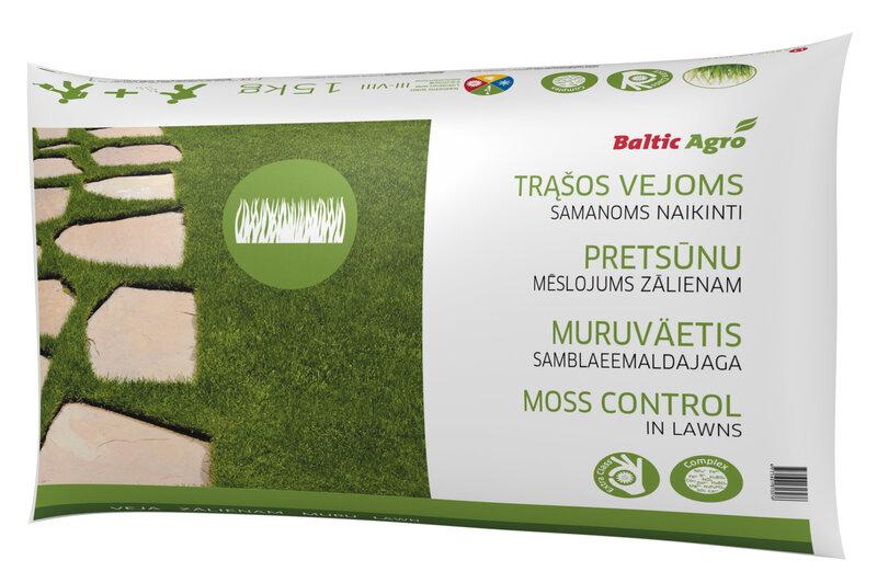 Baltic Agro Pretsūnu mēslojums zālienam, 15 kg cena un informācija | Mēslojumi | 220.lv