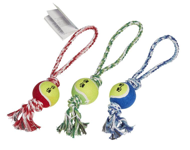 Rotaļlieta sunim virve ar bumbiņu cena un informācija | Rotaļlietas suņiem | 220.lv