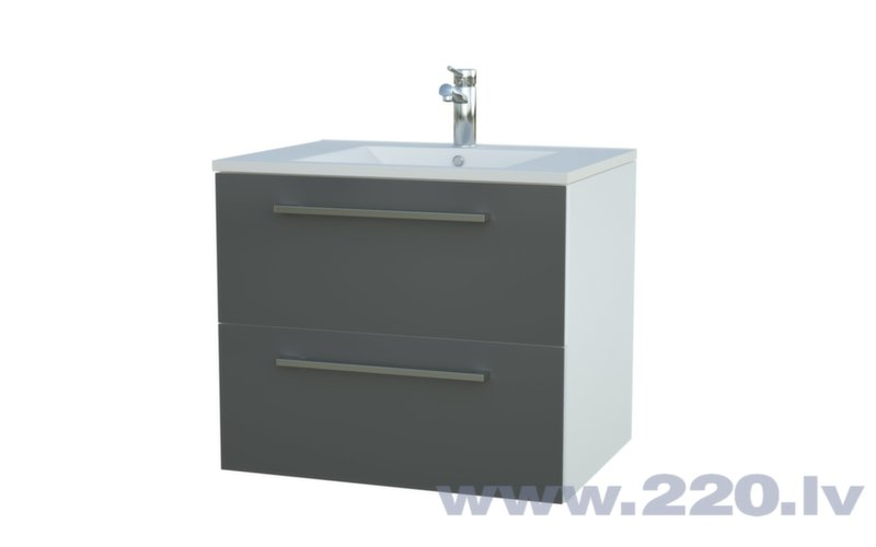 Allegro Vannas istabas skapītis ar izlietni cena un informācija | Vannas istabas mēbeles | 220.lv