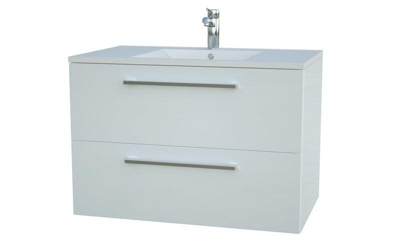 Allegro Vannas istabas skapis ar izlietni cena un informācija | Vannas istabas mēbeles | 220.lv