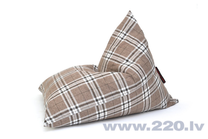 Sēžammaiss Razz Home Tartan Mocha cena un informācija | Sēžammaisi, pufi | 220.lv