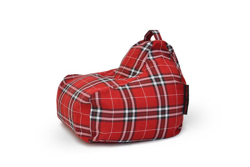 Sēžammaiss Game Home Tartan Red cena un informācija | Sēžammaisi, pufi | 220.lv