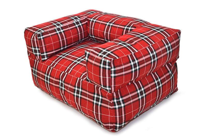 Sēžammaiss Moog Home Tartan Red cena un informācija | Sēžammaisi, pufi | 220.lv