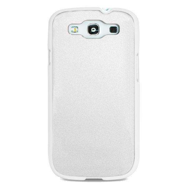 Aizmugures apvalks Puro SGS3METALWHI telefonam Samsung Galaxy S3 (i9300) cena un informācija | Maciņi, somiņas | 220.lv
