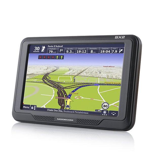 GPS uztvērējs navigācijas sistēma MODECOM FREEWAY SX2 cena un informācija | Auto GPS | 220.lv