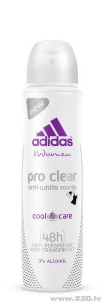Pretsviedru dezodorants Adidas Cool & Care Pro Clear, 150 ml cena un informācija | Dezodoranti | 220.lv