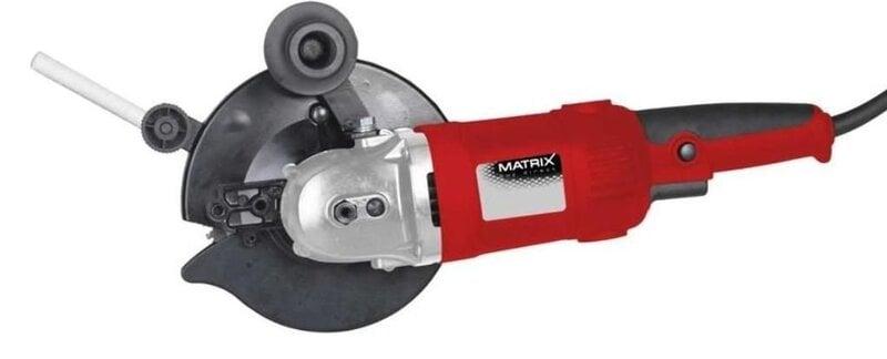 Leņķa slīpmašīna MATRIX TS 1500-160 cena un informācija | Slīpmašīnas | 220.lv