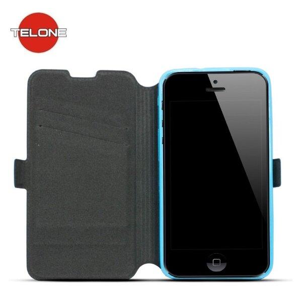 Telone Super plāns sāniski atverams maciņš ar stendu HTC One M9 Zils cena un informācija | Maciņi, somiņas | 220.lv