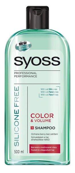 Syoss Silicon Free Color & Volume šampūns 500 ml cena un informācija | Šampūni | 220.lv