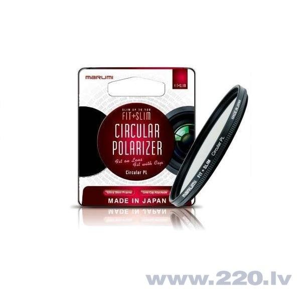 Marumi FIT + SLIM Cirkulārais polarizācijas filtrs PL 49mm cena un informācija | Foto piederumi, statīvi, somas, zibspuldzes | 220.lv