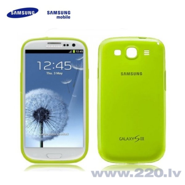 Samsung EFC-1G6PME Super Plāns Telefona Apvalks i9300 i9301 Galaxy S3 S3 Neo Gaiši Zaļš (EU Blister) cena un informācija | Maciņi, somiņas | 220.lv