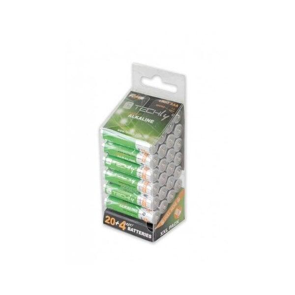 Techly Alkaline AAA LR03 1.5V 24gb. cena un informācija | Akumulatori, lādētāji un piederumi | 220.lv