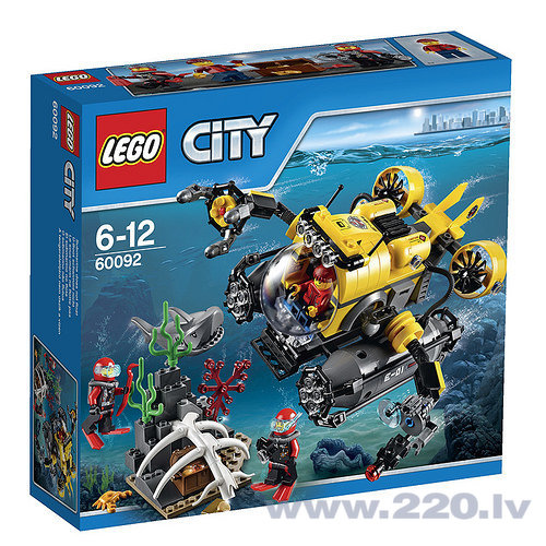 Конструктор Lego City Deep Sea Submarine 60092 цена и информация | LEGO | 220.lv
