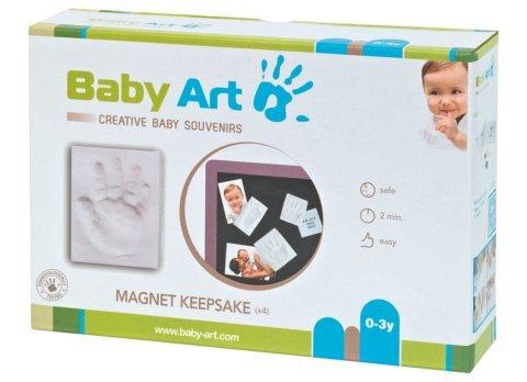 Baby Art Magnet Keepsake komplekts ar magnētu mazuļa pēdiņu/rociņu nospieduma izveidošana, 2gab cena un informācija | Zinātniskās un attīstošās spēles, komplekti radošiem darbiem | 220.lv