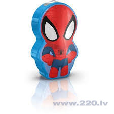 "Philips Disney ""Spider-Man"" LED nakts lukturītis, zils"