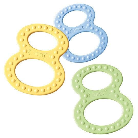 Пластиковый кольцообразный прорезывательNUK Eightball 3 - 12 месяцев цена и информация | Bērna barošana | 220.lv