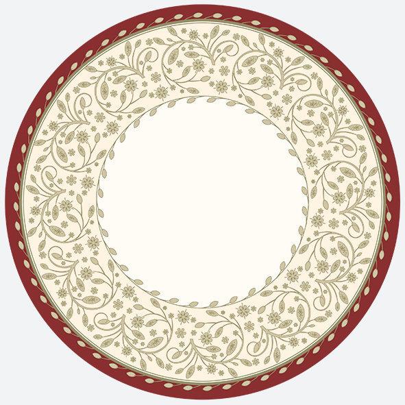 Vienreizējās lietošanas papīra šķīvji, krāsaini, 22,7 cm, 8 gab. cena un informācija | Svētku dekorācijas un vienreizlietojamie trauki | 220.lv