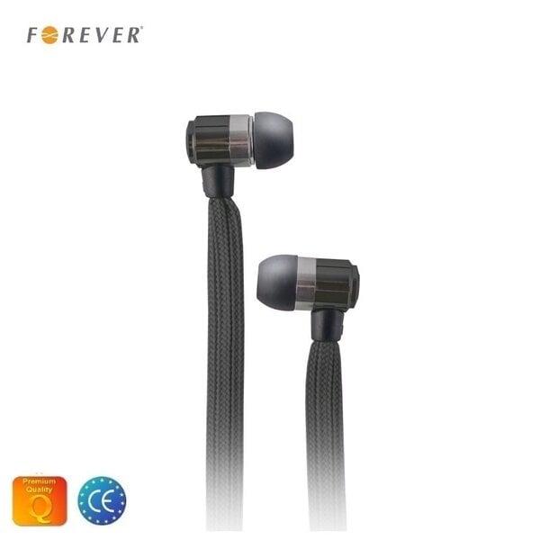 Forever Swing Sporta un Fitnesa 3.5mm Plakana virves vada In-Ear Austiņas ar mikrofonu Melnas cena un informācija | Austiņas un bezvadu garnitūra | 220.lv