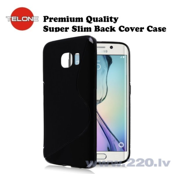 Telone Back Case S-Case силиконовый чехол Samsung G925 Galaxy S6 Edge Черный цена и информация | Maciņi, somiņas | 220.lv