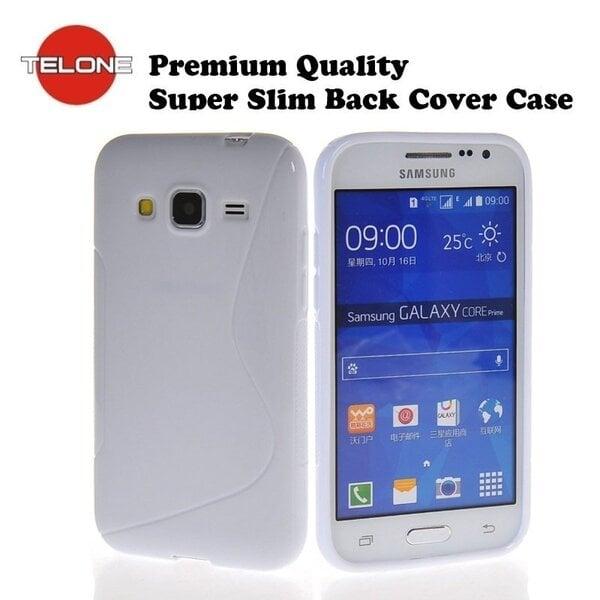 Telone силиконовый чехол Samsung Galaxy Core Prime (G360) белый цена и информация | Maciņi, somiņas | 220.lv