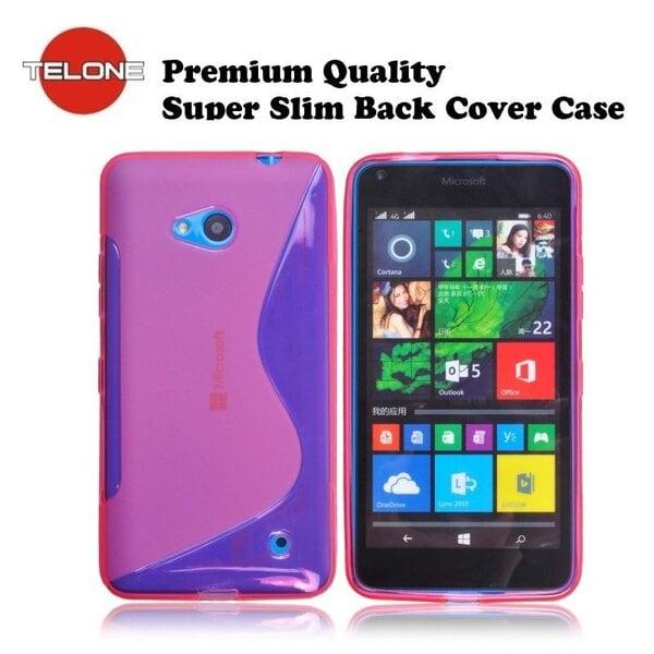 Telone gumijots telefona apvalks Microsoft 640 Lumia rozā cena un informācija | Maciņi, somiņas | 220.lv