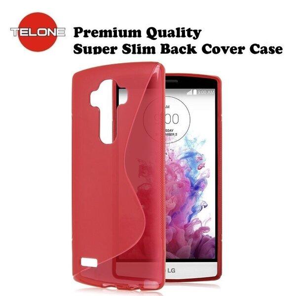 Telone gumijots telefona apvalks priekš LG G4 (H815), sarkans cena un informācija | Maciņi, somiņas | 220.lv