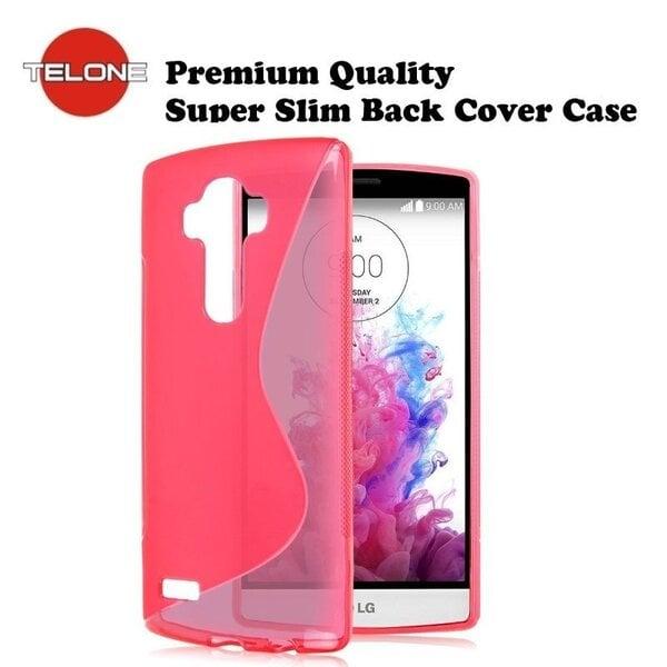 Telone gumijots telefona apvalks priekš LG G4 (H815), rozā cena un informācija | Maciņi, somiņas | 220.lv