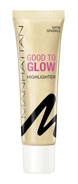 Krēmveida izgaismotājs ar mirdzumu Manhattan Good To Glow, 25 ml cena un informācija | Seja | 220.lv