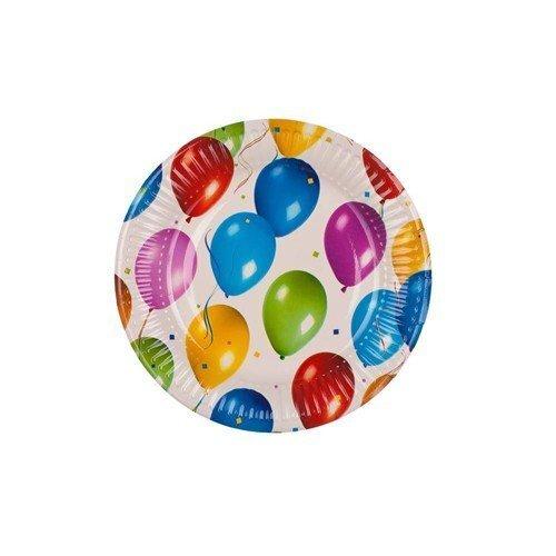 Papīra šķīvji, 8 gab cena un informācija | Svētku dekorācijas un vienreizlietojamie trauki | 220.lv