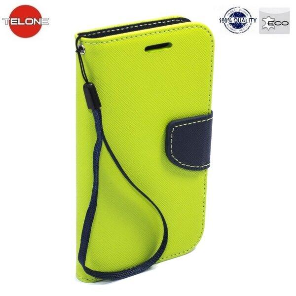Telone Fancy Diary Book Case ar stendu Samsung G920 Galaxy S6 sāniski atverams Salātkrāsas/Zils cena un informācija | Maciņi, somiņas | 220.lv