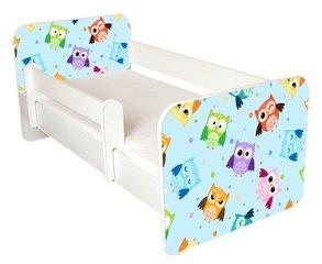 Детская кровать с матрасом и съемным барьером Ami 57, 140x70 см