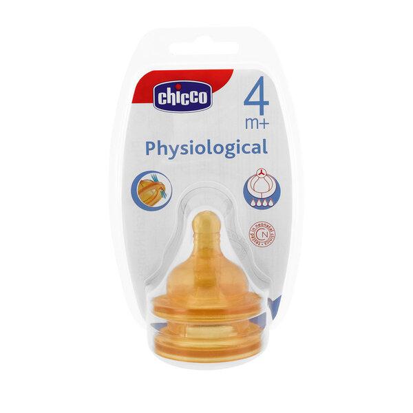 Chicco Fizioloģiskais knupītis 4m+ 2 gab., regulējama plūsma cena un informācija | Bērna barošana | 220.lv