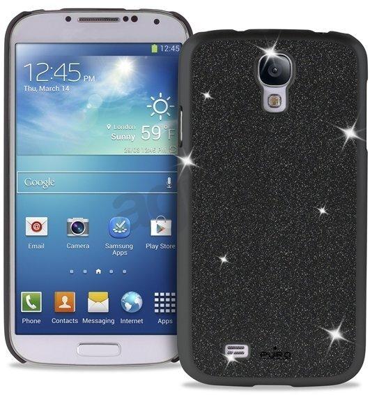 Aizmugures apvalks Puro SGS4GLITTERBLK SAMSUNG S4 GLITTER COV BLACK, telefonam Samsung Galaxy S4 cena un informācija | Maciņi, somiņas | 220.lv
