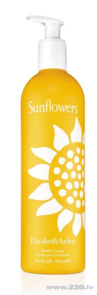 Dušas krēms Elizabeth Arden Sunflowers, 500 ml cena un informācija | Parfimēta sieviešu kosmētika | 220.lv