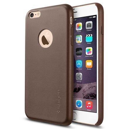 Чехол Spigen Leather Fit для телефона Apple iPhone 6 Plus, Коричневый цена и информация | Maciņi, somiņas | 220.lv