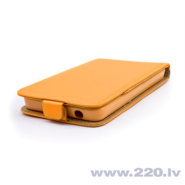 Telone Shine Pocket Slim Flip Case LG H220 Joy telefona maks vertikāli atverams Oranžs internetā