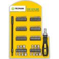 Комплект отверток, насадок и головок Fieldmann FDS 1010-58R, 58 шт. цена и информация | Instrumenti | 220.lv