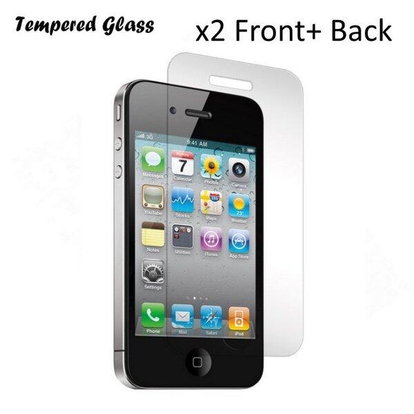 Tempered Glass Extreeme Shock Защитная пленка-стекло Apple iPhone 4 4S Перед+Задняя 2шт. (EU Blister) цена и информация | Ekrāna aizsargplēves | 220.lv