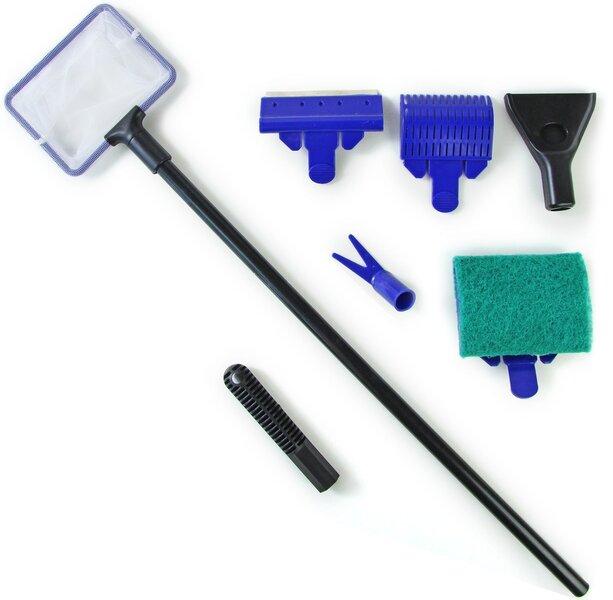 Akvāriju tīrīšanas komplekts 5in1 cena un informācija | Akvāriji un aprīkojums | 220.lv