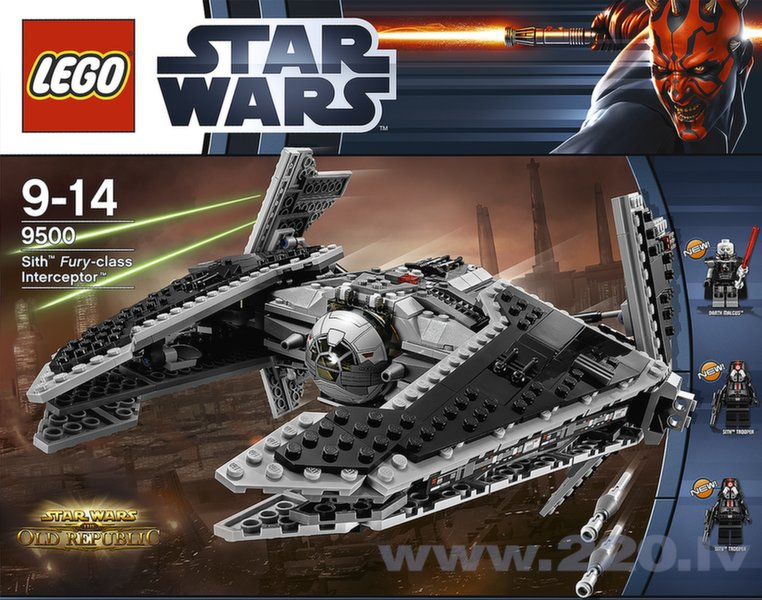 Конструктор Lego Star Wars Sith Fury-class Intercept V29 9500 цена и информация | LEGO | 220.lv