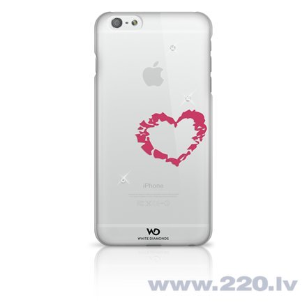 Aizmugures apvalks Lipstick Heart telefonam Apple iPhone 6 Plus